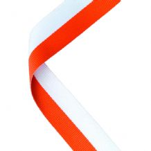 ORANGE/WHITE RIBBON TWO COLOUR